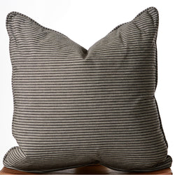 Dark Grey Striped Pillow
