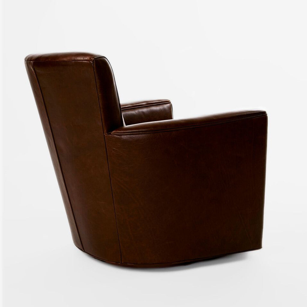 Leather Upholstered Swivel Chair-3