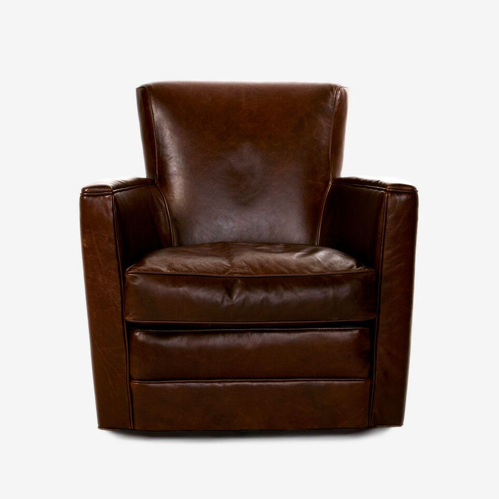 Leather Upholstered Swivel Chair-2
