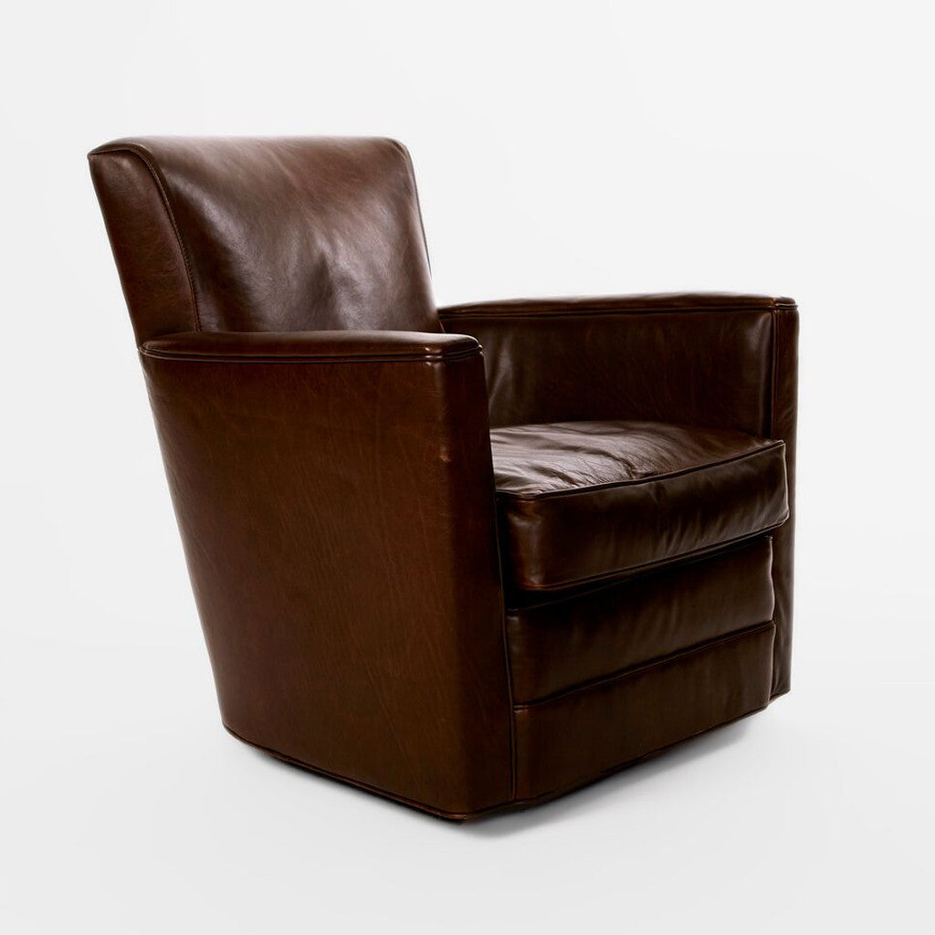 Leather Upholstered Swivel Chair-1