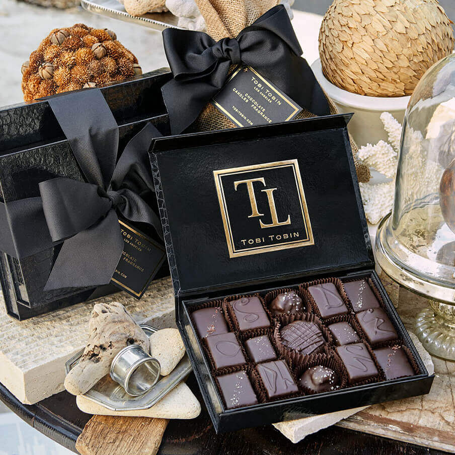MEDIUM BOX CHOCOLATE - Tobi Tobin | Luxury Candles, Chocolates and Fragrances | Los Angeles