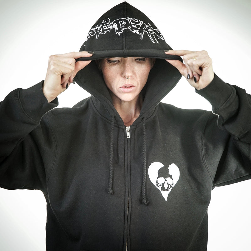 DEATH GROUND ZIP HOODIE