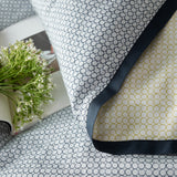 Soft Cotton Modal Yellow & Dark Blue Dotted Pattern Duvet Young Adult