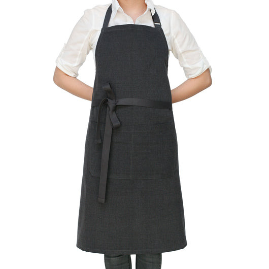 Charcoal Gray Chef's Kitchen Apron