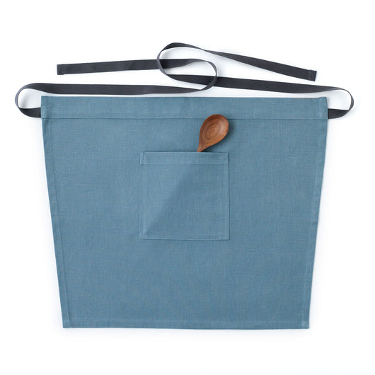 Light Blue Waist Apron