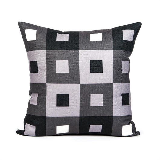 Checkered Grey Throw Pillow