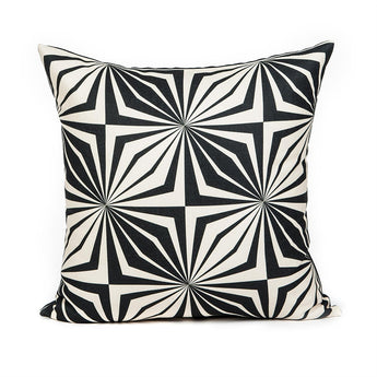 Modern Black Star Accent Throw Pillow