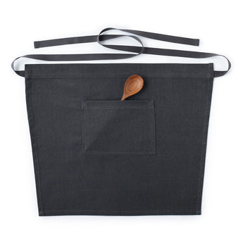 Charcoal Gray Cafe Waist Apron