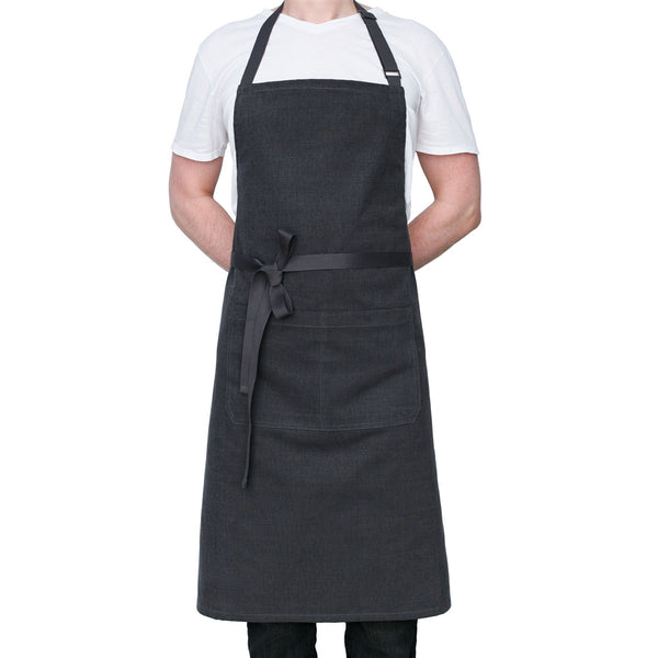 Charcoal Gray Chef's Kitchen Apron - Tall