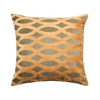 Cori Dark Beige Throw Pillow