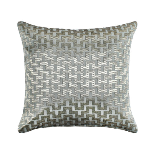 Mazy Bluish Gray Throw Pillow