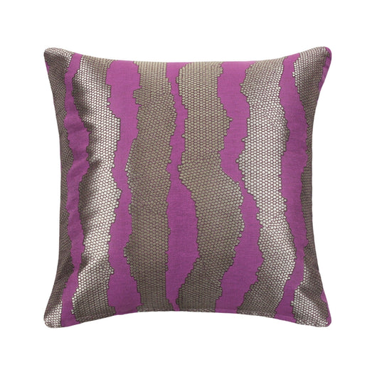 Mazy Pruple Stripe Throw Pillow