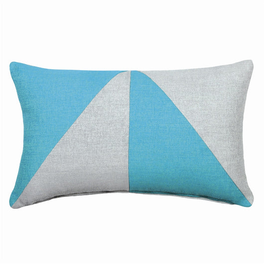 Dual Aqua Jacquard Oblong Pillow