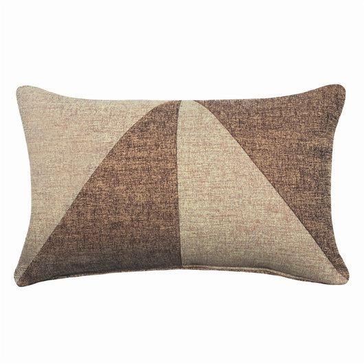 Dual Beige Jacquard Oblong Pillow