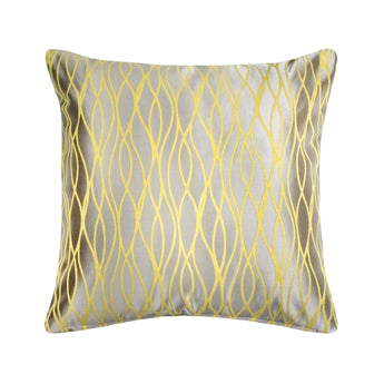 Citron Gray Swirl Throw Pillow
