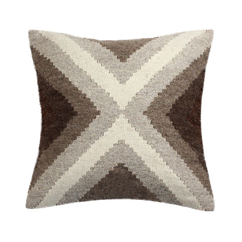 Beige Wool Decorative Pillow