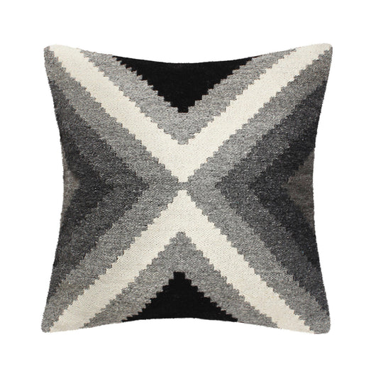 Hand Loomed Wool Gray Pillow