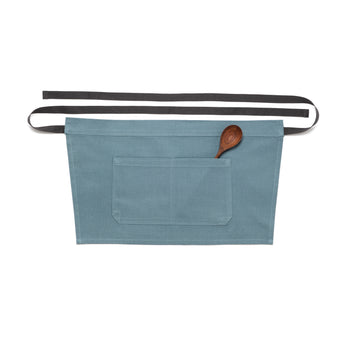 Light Blue Bistro Apron with Pockets