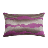 Mazy Purple Stripe Decorative Throw Pillow