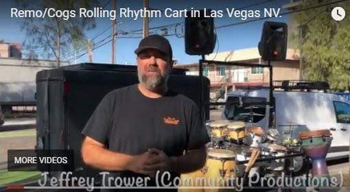 Remo/Cogs Rolling Rhythm Cart