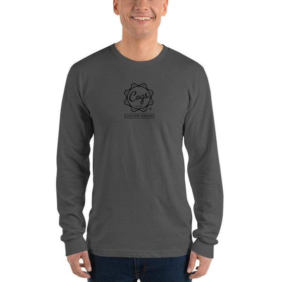 Classic Cogs Long Sleeve Black Logo - Cogs Custom Drums