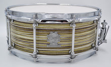 Cogs MC-53 Zebra Green Snare Drum - Cogs Custom Drums LLC