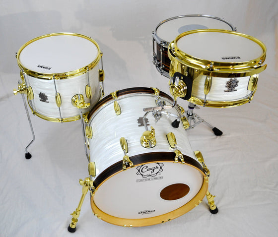 Drum Kit - Portable Club White Strata - Cogs Custom Drums