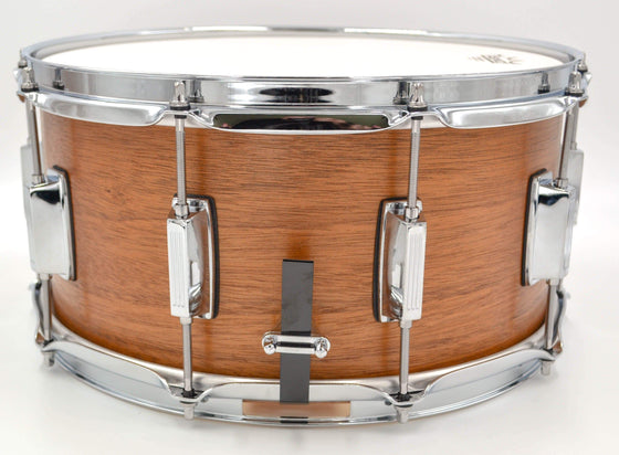 Cogs Custom Mahogany/Maple Hybrid Snare 14x7 - Cogs Custom Drums