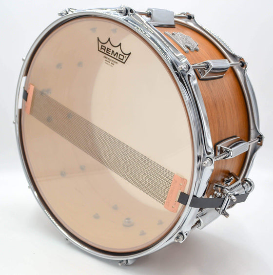 Cogs Custom Mahogany/Maple Hybrid Snare 14x7 - Cogs Custom Drums LLC