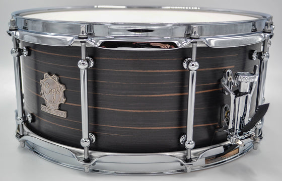 Cogs MC-53 Ebony Snare Drum - Cogs Custom Drums