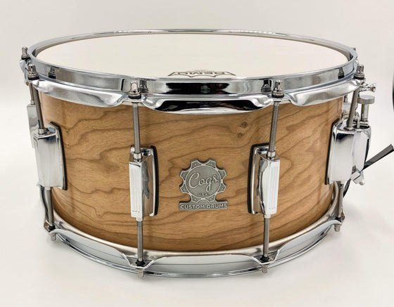 Cogs Pro Series Cherry Snare Drum - Cogs Custom Drums