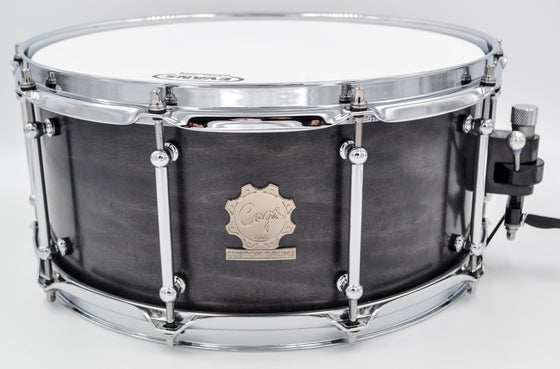 Cogs SuperSix™ Black Maple Snare - Cogs Custom Drums LLC