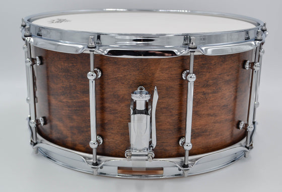 Cogs SuperSix™ Brown Satin Snare Drum - Cogs Custom Drums