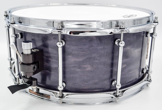 Cogs SuperSix™ Purple Maple Snare for Lefty Drummers - Cogs Custom Drums LLC