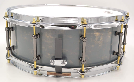 Cogs SuperSix™ Weathered Gray Snare - Cogs Custom Drums