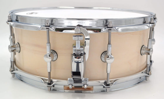 Cogs SuperSix™ White Satin Snare - Cogs Custom Drums