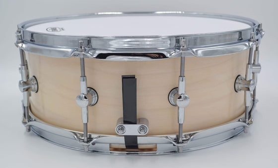 Cogs SuperSix™ White Satin Snare - Lefty - Cogs Custom Drums