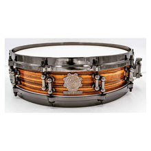 Cogs SuperSix Zebrawood Piccolo Snare - Cogs Custom Drums LLC