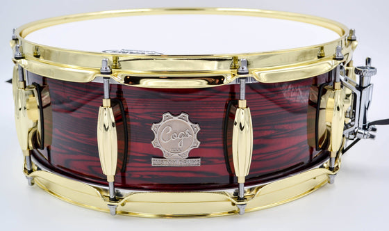 Red Strata Snare - 14 x 5.5 - Cogs Custom Drums LLC