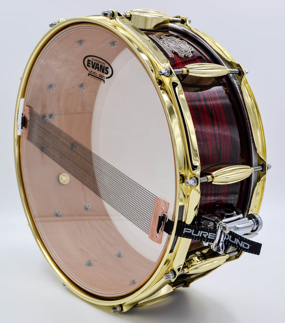 Red Strata Snare - 14 x 5.5 - Cogs Custom Drums
