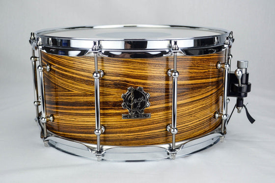 Zebrawood Snare - 14 X 7 - Cogs Custom Drums LLC