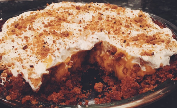 Pumpkin Butterscotch Pudding Pie