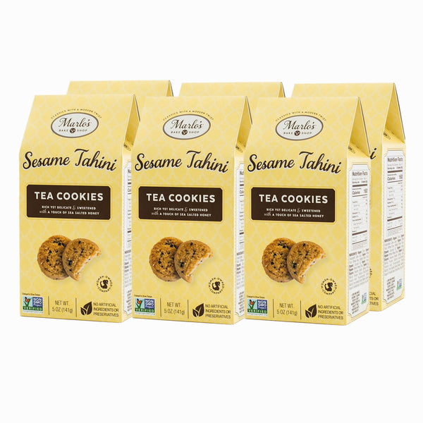 6 pack of tahini tea cookies