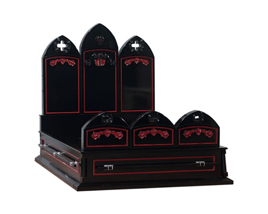 Crypt Keeper Queen Casket Bed - Available in all sizes