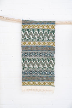 Scarf - 100% cotton - handwoven in Guatemala - Green