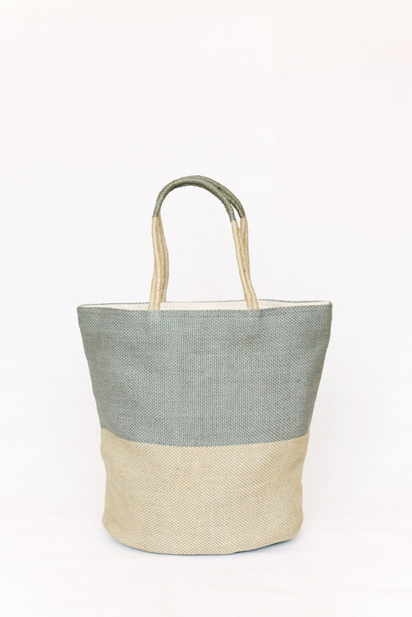 Beach bag -  jute - Crystal clear