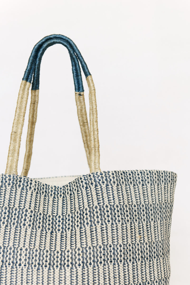 Beach bag - handwoven with jute - Breezy beach