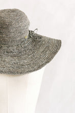 Load image into Gallery viewer, Hats - wide brim - made from straw - grey - Mantasoa