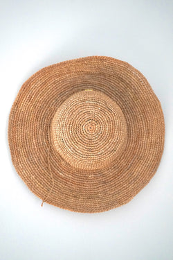 Hat made from raffia - medium brim - beige