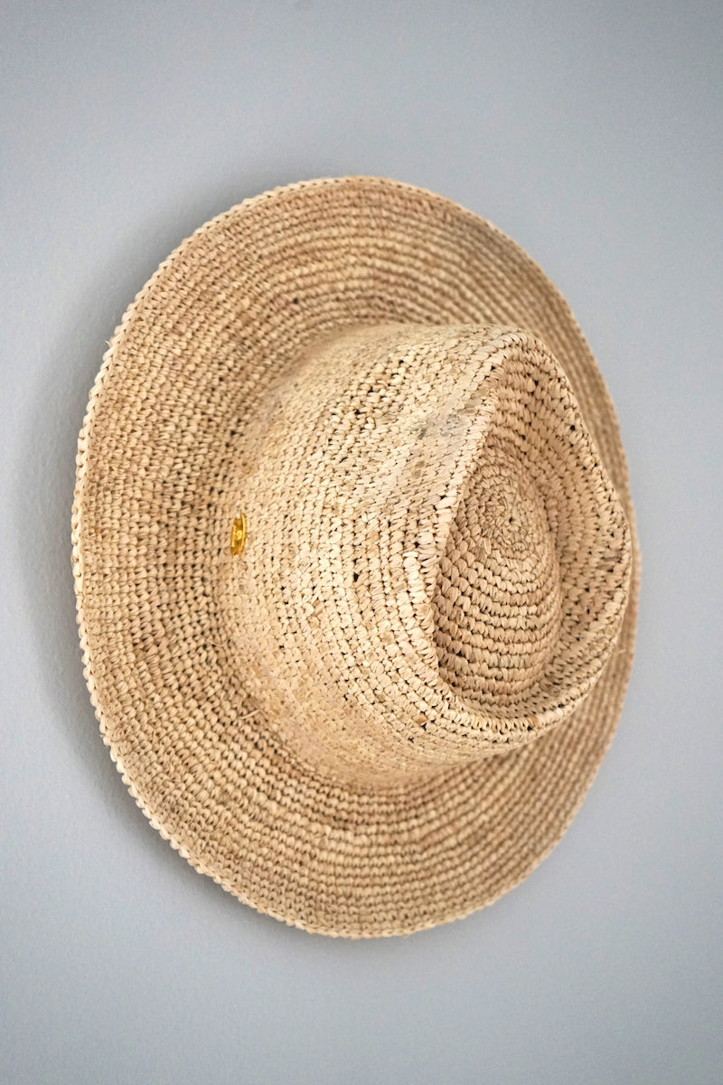 Hats - Panama style - made from straw - natural